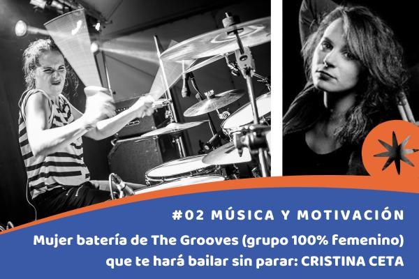 mujer bateria The Grooves Cristina Ceta