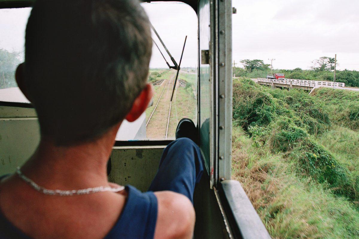 Foto desde la cabina del tren
